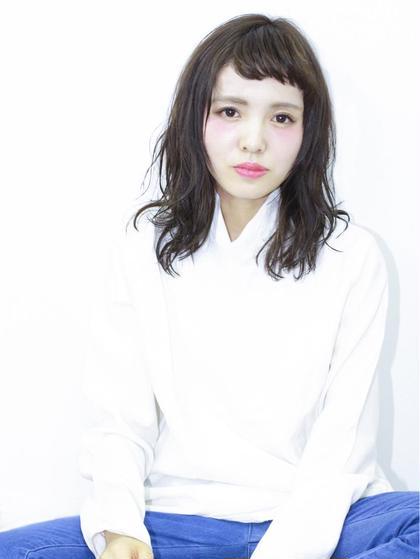 ゆるく巻いてウエットな質感にしました。 GALLARIA Elegante 春日井店所属・YOKOISHINJIのスタイル