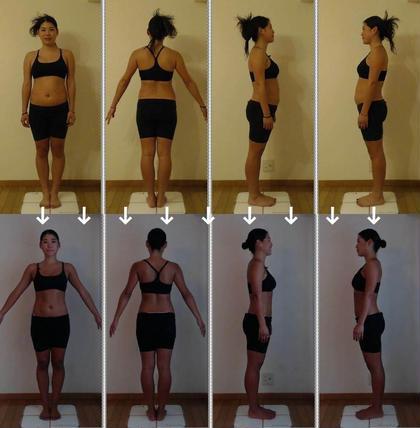 24歳の女性モニターさんです。2ヶ月のダイエットで体重8.9kgダウン、体脂肪率10.7%ダウン、ウエストサイズ11.3cmダウン、太ももまわり3.1cmダウン、二の腕まわり2.1cmダウンしました。 整体★維持トレkeeep所属・整体★維持トレkeeepのフォト