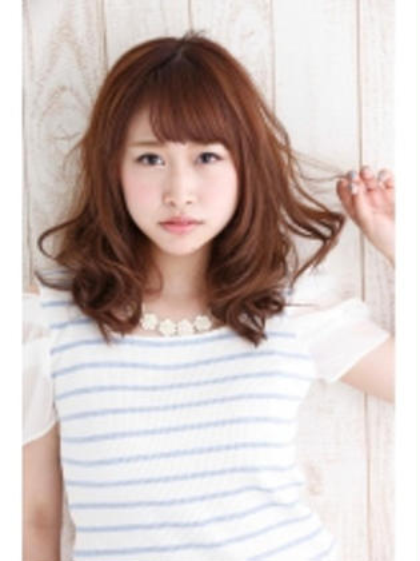 エアリーな愛されミディ♡ Agu hair terrace by   alice所属・スエヨシフミナオのスタイル