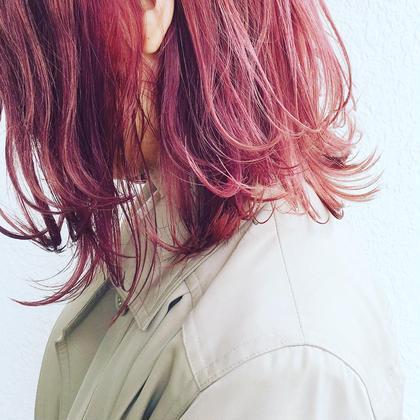 ブリーチ必須 チェリーピンクです! ツヤ感、透明感をだしたいかに! ever所属・トップデザイナーオオヤカズキのスタイル