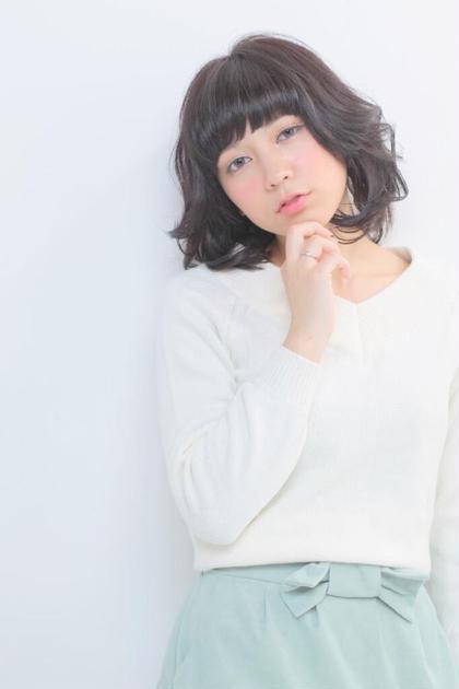 ナチュラルなミディアムパーマ kisa所属・ヤマダアキラのスタイル