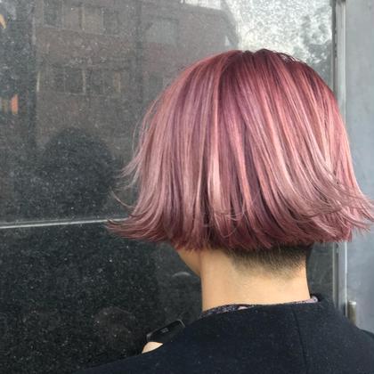 刈り上げ女子❤︎オシャレさん❤︎  ブリーチ必須です! ピンクで個性的に。。。❤︎ MODE K's Eclat所属・KawaguchiArisaのスタイル