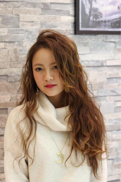ロング波ウェーブ^ ^ hair & make earth天童店所属・渡部等のスタイル