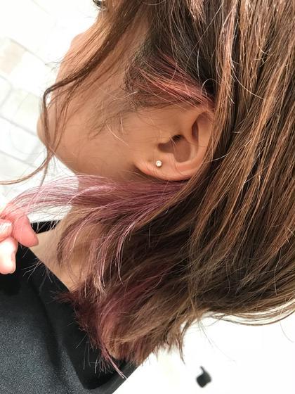耳にかけた時にチラッと見える innercolorがとっても可愛いです♡ KENJEannetta所属・髙橋妃菜のスタイル
