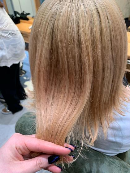 暗髪からハイトーンに✨《ケアブリーチトリプルカラー》