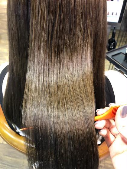 🌿ご新規様🌿酸熱トリートメント✨ブリーチ毛でもリペア毛でもサラサラに🌟胸より下の長さはロング料金がプラスされます!