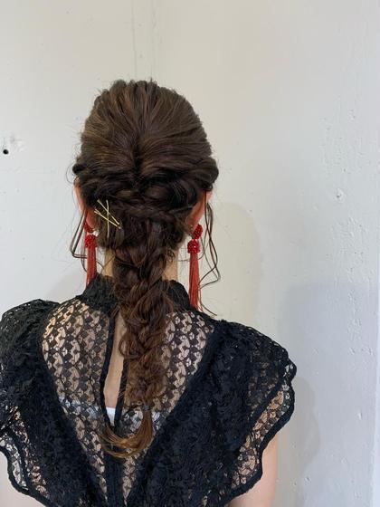 お祭りの浴衣のヘアセットもしています!🧡 【結婚式、パーティ前などに✨】お洒落ヘアセット