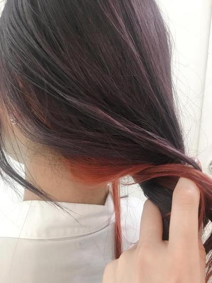カラー 紫とピンクレッド