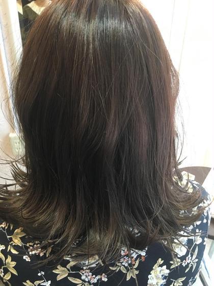 外ハネ  春カラー  ラベンダーピンク Grege所属・森ちあきのスタイル