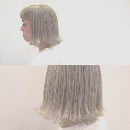 【満足度&オシャレ度No1】ケアWブリーチ+ホワイトカラー+シルクトリートメント