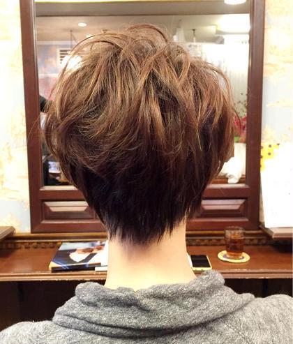 ショートスタイル♪ ふんわりパーマ 頭のカタチがキレイに見えます♪ MOF HAIR SALON所属・イチハラショウのスタイル