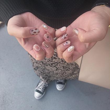 ネイル マツエク・マツパ ニュアンスアートお任せください✴︎ instagram<<chipieee_nail_saya>>