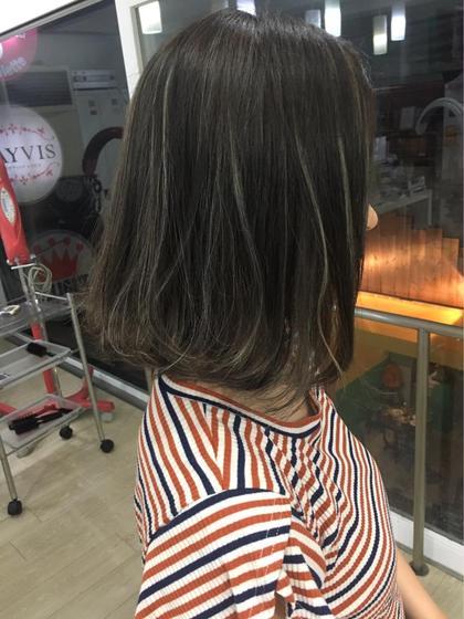 外国人風ハイライトカラー  HAIR DELIGHT所属・宮本一真のスタイル