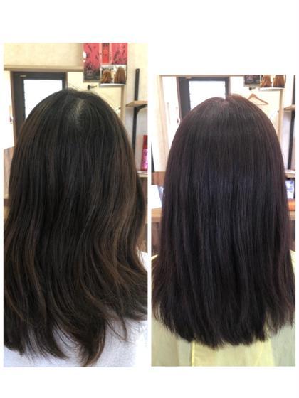 ミニモ限定価格❗️髪修復潤いカラー!ゴッホカラー+炭酸泉シャワー