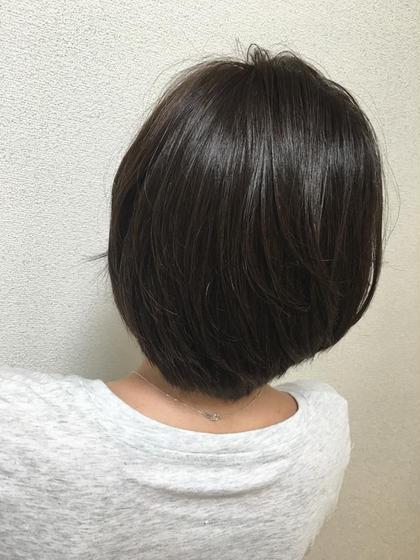 カラー ショート 暗めのグレー系(灰色)カラー