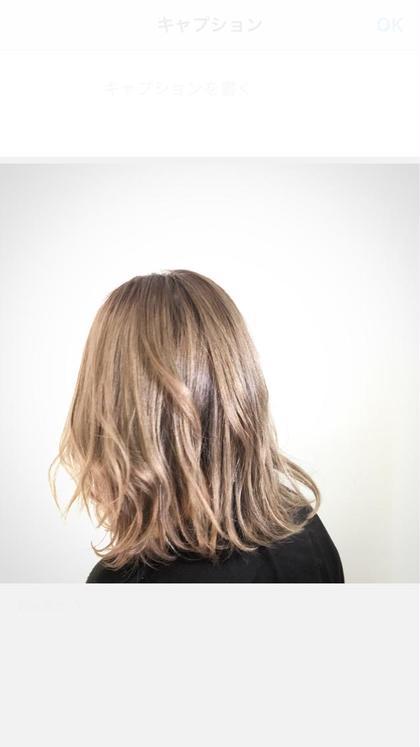 今日のお客様 #ミルクティーベージュ  hair&makeup miq所属・今村圭佑のスタイル