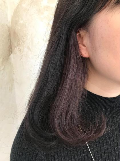 【インナーカラー】でさりげないオシャレを楽しみましょう!  表面【アッシュグレー】/内側【ラベンダーピンク】   ブリーチなしでインナーカラー歴2年。 積み重ねるほど綺麗になります。  白髪染めにも対応しています。   Biewオリジナルヘアカラー【小江戸アッシュ】   ぜひ体感してください(*^ω^*)