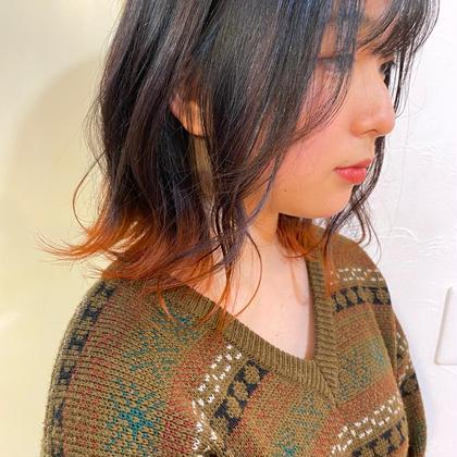 ✨オシャレ度UP🌈インナーカラーorイヤリングカラーor裾カラー✨(ブリーチ+カラー)