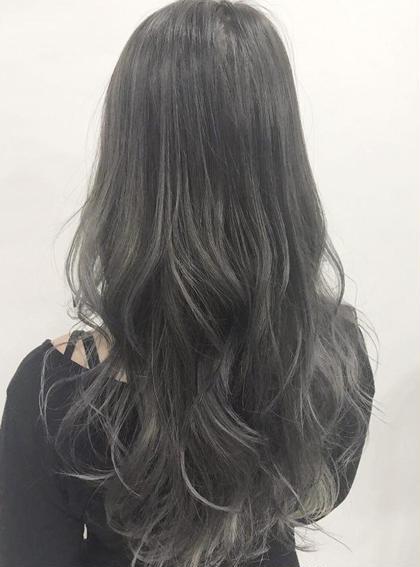 黒染め色落ちカラー+トリートメント【全員】