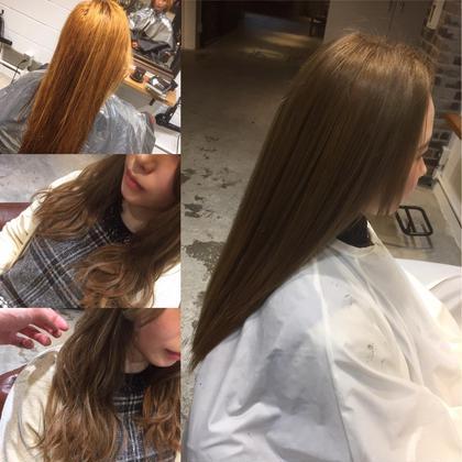カラー ロング いつも暖色系で染めてた髪もWカラーで ブリーチすると、こんなに綺麗に染まります✌︎ milk tea ash beige☆☆☆ 春に向けたスタイルチェンジはお任せください☝︎☝︎