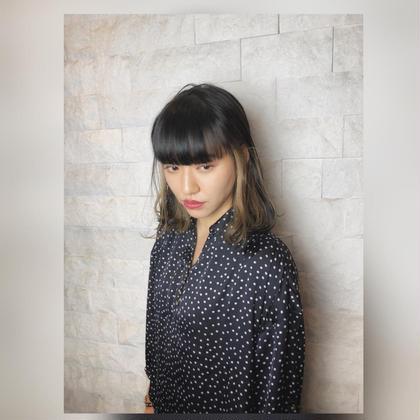 ✨小顔カット+ワンポイントデザインカラー(インナーカラー、ハイライト)&クイックトリートメント
