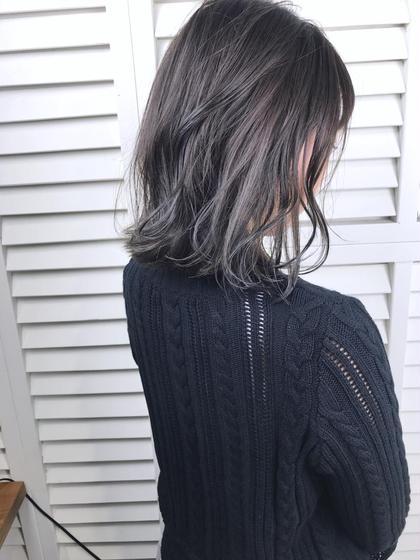 その他 カラー ショート パーマ ヘアアレンジ Real salon work💈 【 bob / lavender ash gray 】 . アッシュ、ラベンダーアッシュ、カーキの繰り返しで色味を重ねていきました#積み重ねspecial . #ブリーチなし で引き出すグレー感▪️▫️ 6〜9トーンくらいまでのカラーが色味をしっかり出しやすくなります🦆 . 仲井にお任せを☺︎ . . #NAKAIstyle #ブリーチなし_nakai_color #アッシュグレー#切りっぱなしボブ