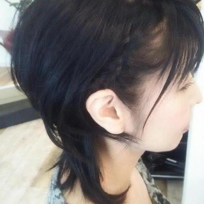 ショートのヘアアレンジ hair salon a^-to所属・福田 智重子のスタイル