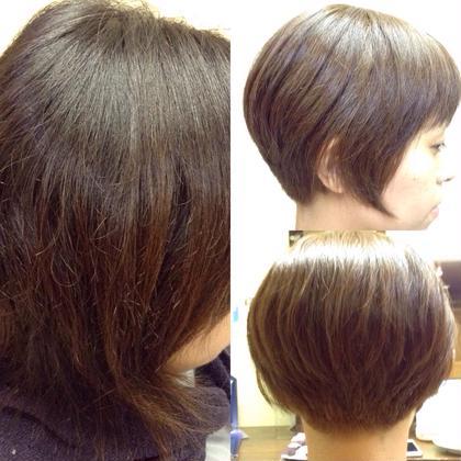 【ツヤサプリカラー】 カラーをしながらクセを抑えるメニューです 矯正をするほどではないけど、髪の毛が膨らんでしまいお手入れしにくいとお困りの方にオススメのメニューです‼︎ こちらのメニューもカラー、カット、ツヤ髪トリートメントと同じモデルさん料金¥5400で出来ます 髪のお悩み、一緒に解決させて下さい お待ちしております^_^ プールブーヘアデザイン所属・大方奈々のスタイル