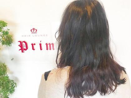 ダークヴァイオレット☆*。  お仕事上派手カラーができないので 毛先だけにアクセントカラー☺️  ブリーチあり カラーが入っていない元の髪で 染めさせていただきました✨ HAIRLOUNGEPrim所属・小野眞女のスタイル