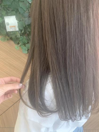 🌈ブリーチなしケアカラー🌈前髪カット+透明感ケアカラー+集中補修トリートメント