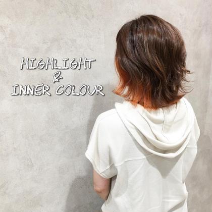 【ちら見せカラー✨】インナーブリーチ+インナーカラー+Tr