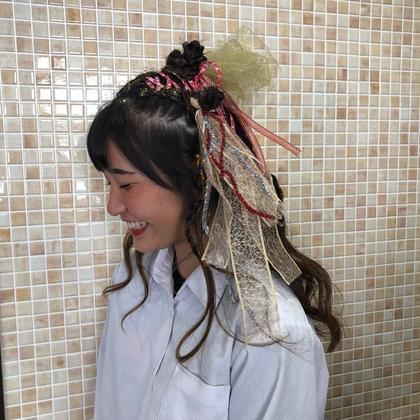 派手な髪色じゃなくても大丈夫❣️飾り次第でいくらでも可愛くなります✨スタイルを一緒に考え絶対的に可愛く作り上げます💕 Ark+ing所属・山本鈴菜のスタイル