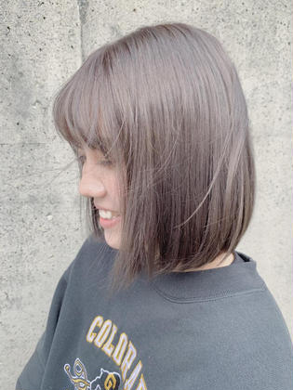 【❤︎人気No. 2❤︎】︎🌈透明感カラー➕髪質改善トリートメント🌈 カラーしながら髪を綺麗に💕