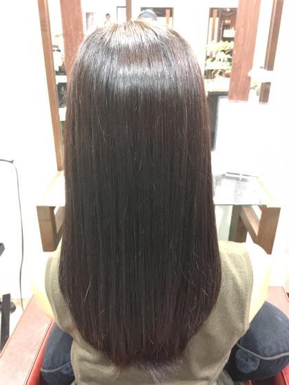 定番のロングレイヤー!傷んだところは取り除いて、収まりの良いカットに!MILBONトリートメントで艶のあるサラサラな髪に! Ark+ing所属・近江咲紀のスタイル