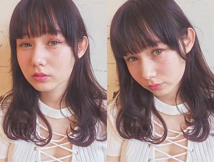 styling ♡ フリーランス美容師所属・🎀miyu/ピンク×ラベンダーのスタイル