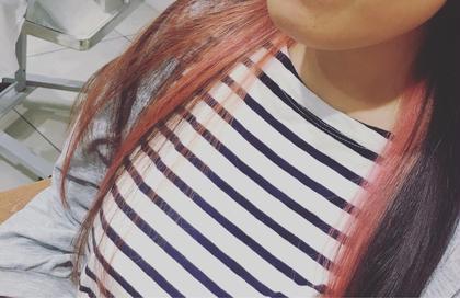 ちょっと派手な インナーカラー pink!  Norryz所属・遠藤香菜子のスタイル