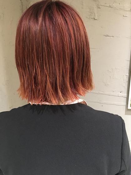 カラー ショート セミロング ヘアアレンジ ミディアム ロング