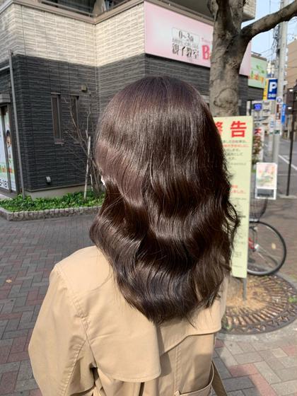 🇰🇷韓国ヘア🇰🇷人気👑No.3【🌸平日限定🌸】カット+カラー+さらつやトリートメント