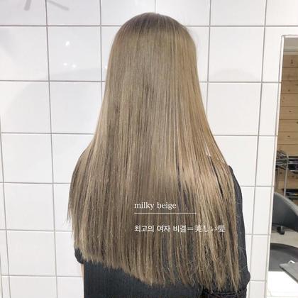 ❤️📺TVで話題の酸熱カラー📺❤️前髪カット➕透明感カラー➕🔥髪質改善トリートメント🔥✨