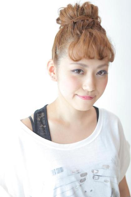 簡単キュートなおだんご hair salon M.plus所属・KADOIKEMICHIHIROのスタイル