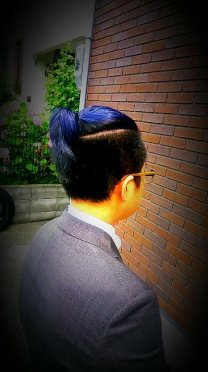 ヘアカラー✂ブルーアッシュ 綾野聖子のメンズヘアスタイル・髪型