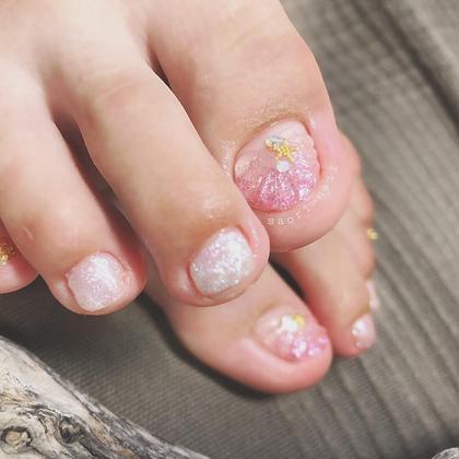 ネイル ピンクのマーメイドも可愛いらしい🧜♀️💕