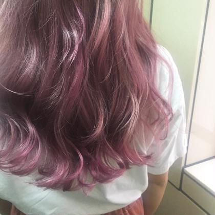 ミディアム ブリーチ3〜5回 カラーバターも使ってます♡ ピンク♡