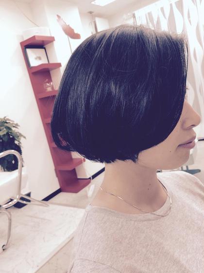 コスメ縮毛矯正、ボブスタイル、ワンカール ajuga hair所属・hamadayukiのスタイル