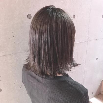 切りっぱなしボブ×ブルーアッシュ! Lino by U-REALM所属・相川隼也のスタイル