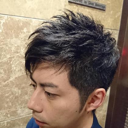 クセを活かした束感ショート  barbier GRAND GINZA所属・菊地武治 グラン マネージャーのスタイル