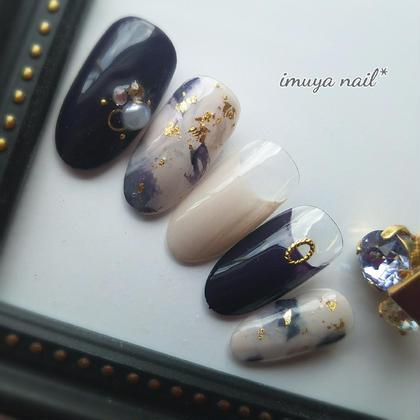 贅沢✩プレミアムジェルネイルコース ¥7,000 ネイル&脱毛サロン imuya nail所属・ネイル&脱毛サロンimuya nailのフォト