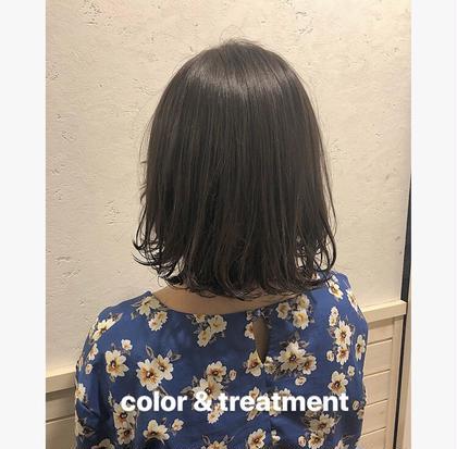 color and treatment 透明感のあるモノトーングレージュ❤︎❤︎❤︎ Neolivesing所属・寒河江舞奈のフォト