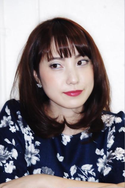 カラーリングで明るく、毛先パーマで柔らかな印象になります! Pittura所属・MIKAMIYASUHIROのスタイル