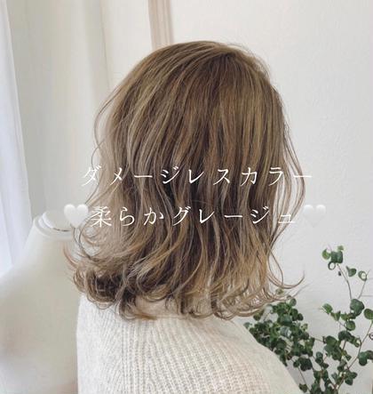 平日限定💫【さら艶cut+妹尾オリジナルカラー】枝毛をcutして髪を綺麗にします😋🌟炭酸カラーで更に艶UP✨